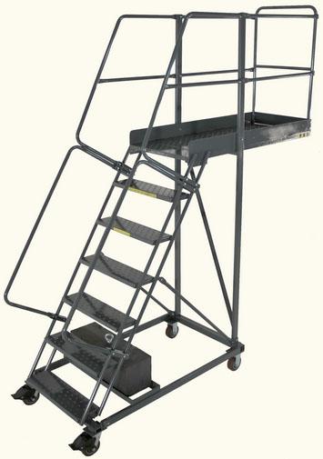 Cantilever Rolling Ladder Custom Work Platforms